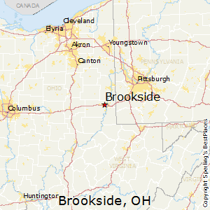 Brookside,Ohio Map
