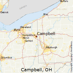 Campbell,Ohio Map