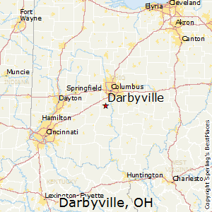 Darbyville,Ohio Map