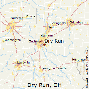 Dry_Run,Ohio Map