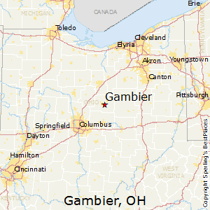 Gambier,Ohio Map