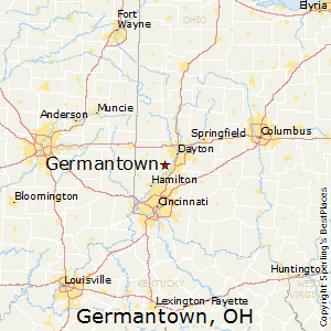 Germantown,Ohio Map