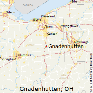 Gnadenhutten,Ohio Map