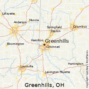 Greenhills,Ohio Map