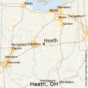 Heath,Ohio Map