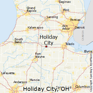 Holiday_City,Ohio Map