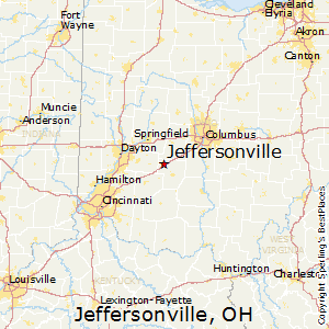 Jeffersonville,Ohio Map