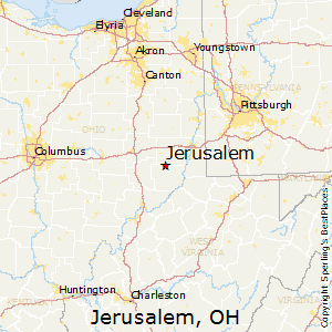 Jerusalem,Ohio Map