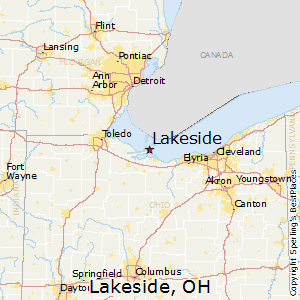 Lakeside,Ohio Map