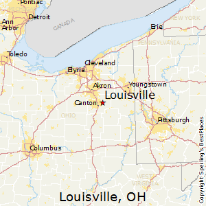 Louisville,Ohio Map