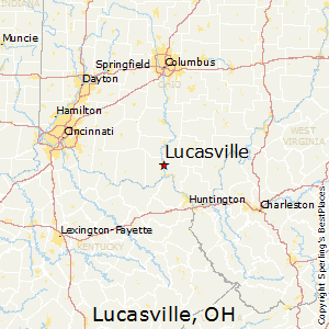 Lucasville,Ohio Map