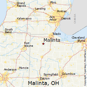 Malinta,Ohio Map