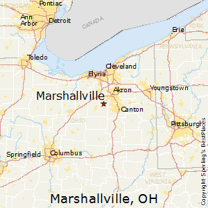 Marshallville,Ohio Map