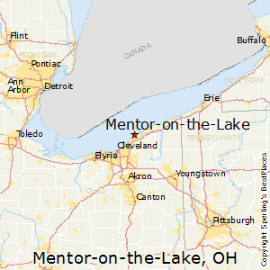 Mentor-on-the-Lake,Ohio Map