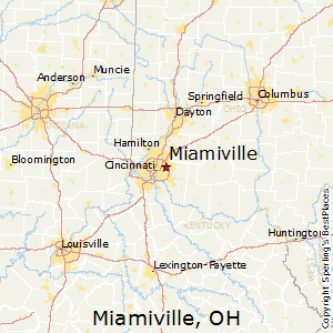 Miamiville,Ohio Map