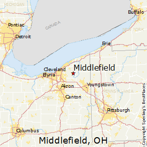 Middlefield,Ohio Map