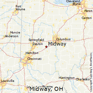 Midway,Ohio Map