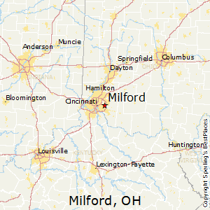 Milford,Ohio Map