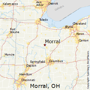 Morral,Ohio Map