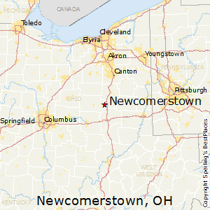Newcomerstown,Ohio Map
