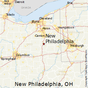 New_Philadelphia,Ohio Map