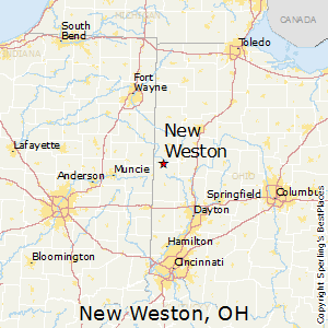 New_Weston,Ohio Map