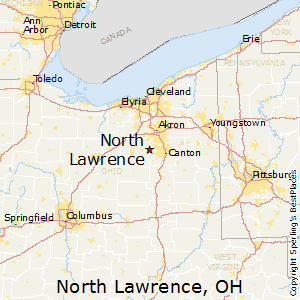 North_Lawrence,Ohio Map