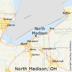 North_Madison,Ohio Map