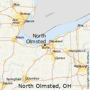 North_Olmsted,Ohio Map