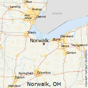 Norwalk,Ohio Map