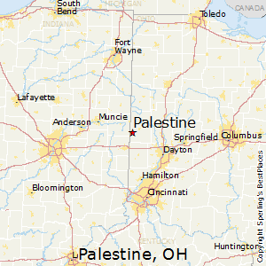 Palestine,Ohio Map
