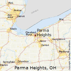 Parma_Heights,Ohio Map