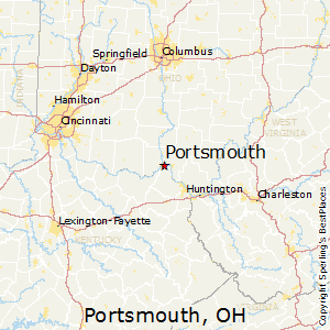Portsmouth,Ohio Map