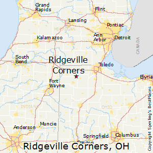 Ridgeville_Corners,Ohio Map