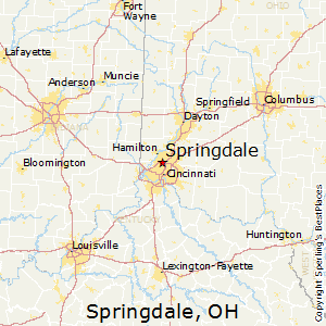 Springdale Ohio Map.Best Places To Live In Springdale Ohio