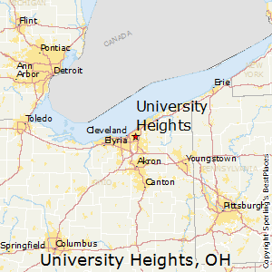 University_Heights,Ohio Map
