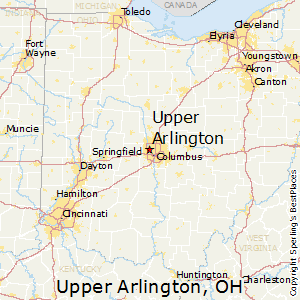 Upper_Arlington,Ohio Map