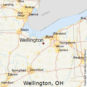 Wellington,Ohio Map