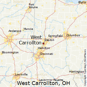 West_Carrollton,Ohio Map