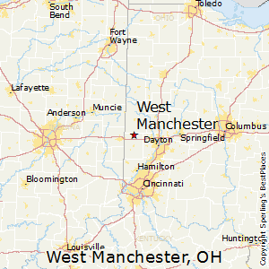 Manchester Ohio Map.Best Places To Live In West Manchester Ohio