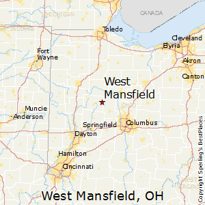 West_Mansfield,Ohio Map