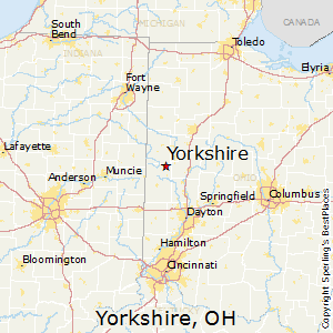 Yorkshire,Ohio Map