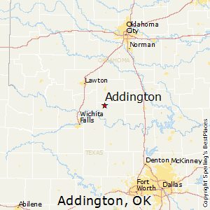 Addington,Oklahoma Map