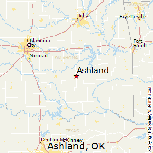 Ashland,Oklahoma Map