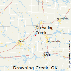 Drowning_Creek,Oklahoma Map