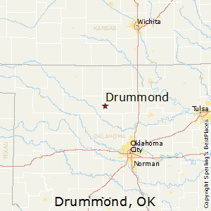 Drummond,Oklahoma Map