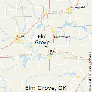 Grove Oklahoma Map.Best Places To Live In Elm Grove Oklahoma
