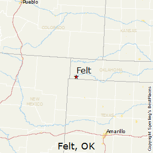 Felt,Oklahoma Map