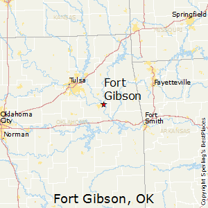 Fort_Gibson,Oklahoma Map