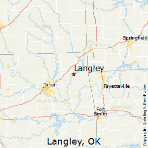 Langley,Oklahoma Map